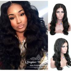 Gorgeous long-lasting afros curly full lace front human hair wigs 180 density 24inch