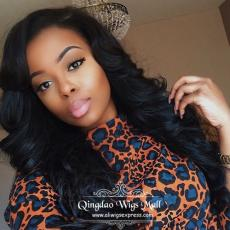 2016 New Fashion Brazilian Virgin Human Hair Lace Front Wigs For AA Ladies 24inch 150 density