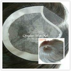 Undetectable Silk Top Injected Mens Wigs With Celebrity Toupee Haircuts