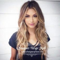 2016 School Hairstyle Cute Bronde Caramel Balayage Color Asian Beauty Human Hair Best Monofilament W...