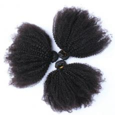 Charming Cheap Afros Curly Human Hair Extensions Weaves Online 3pcs/Lot