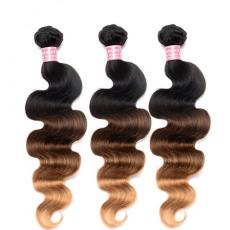 Best Ombre Hair Extensions Brazilian Remy Hair Body Wave T1B/4/27