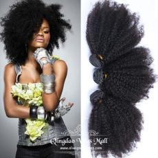 High Quality Afros Small Curly 100 Indian Remy Human Hair Extensions 3pcs/Lot