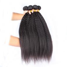 Afros Coarse Italian Yaki Malaysian Virgin Hair Extensions 3pcs/Lot