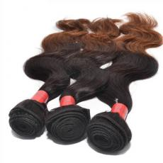3 Tones Ombre Brown Wavy 100 Percent Brazilian Human Hair Extensions 3pcs/Lot