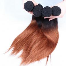 Super Sexy Strawberry Blonde Ombre Full Soft Straight Peruvian Virgin Hair Wefts 4pcs/Lot