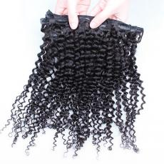 Youthful School Summer Kinky Curly Clip In Human Hair Extensions 6A Indian Remy Human Hair Wefts For...