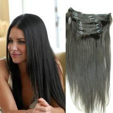 Incredibly Pretty Soft Straight Layered Clip In Human Hair Extensions 6A Malaysian Virgin Hair Wefts