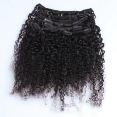 Trendy Thick Afros Tight Kinky Curls Clip In Human Hair Extensions 6A Peruvian Virgin Hair Wefts