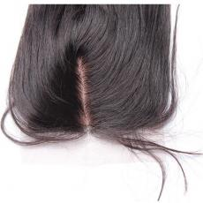 Natural Soft Straight 6A Remi Hair Silk Base Lace Front Closures 3 Part