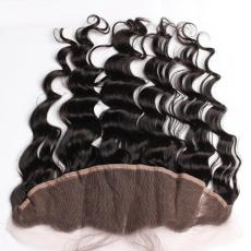 Best 7A Grade Deep Wave Ear To Ear 13*4 Full Lace Front Closures Piece