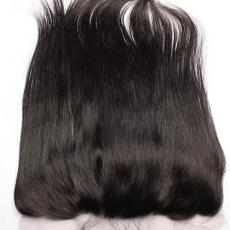 Soft Straight 7A 13*4 Brazilian Virgin Hair Full Lace Frontal Closure With Baby Hair