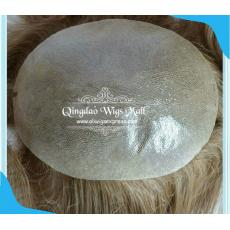All Hand Tied Best Indian Remy Men's Toupee Wigs For Wholesale