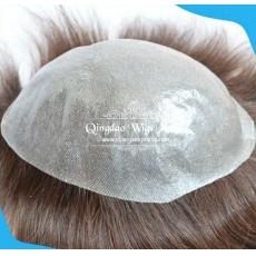 Natural Looking Transparent Thin Skin Full PU Base Toupees System For Men