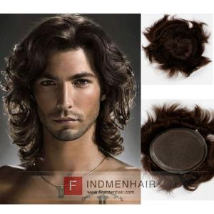 Long Body Wave Mono With Clear PU Mens Hair Replacement Systems Online