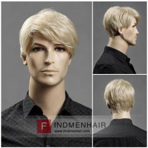 Realistic Light Blonde Mens Human Hair Replaement For Thinning Hair UK