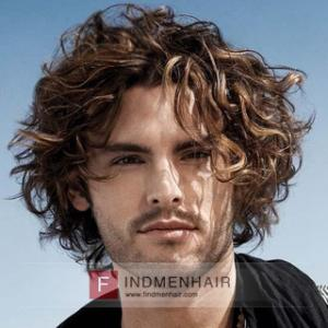 Great Long Messy Curly Human Hair Replacement Wigs For Man In Turkey