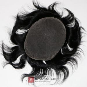 Cheap Ready To Ship Natural Black Men's Hair Replacement Toupees Delhi