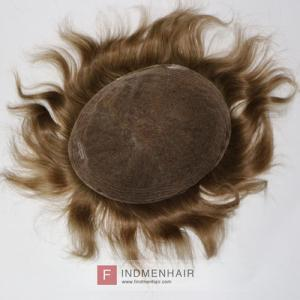 Brown Blonde Mens Human Hair Replacement Toupee Hair Pieces Bangalore