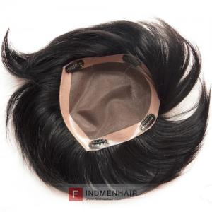 Good Designed Mono Asian Mens Wigs Toupees Hair Pieces With Clips