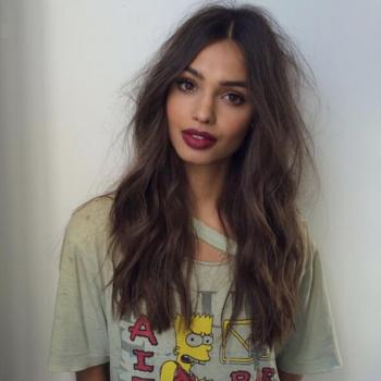 Messy Wavy BrunetteS Long Bob Brown Human Hair Wigs Middle