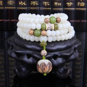 108pcs white Bodhi Root beads bracelet new Buddha multi layers ethnic bracelets For Men