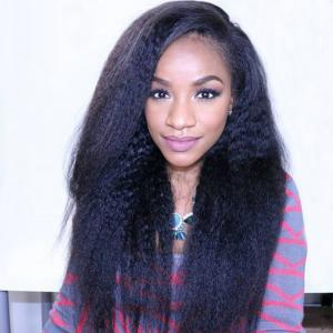 150 Density Thick Afros Kinky Straight African American Black Women Human Hair Wigs