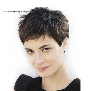 Stylish Messy Super Short Layered Haircuts Indian Remy Lace Front Wigs