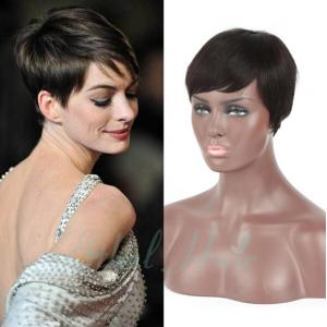 Cool Best Very Short Haircuts Capless Human Hair Wigs For Women Over 50