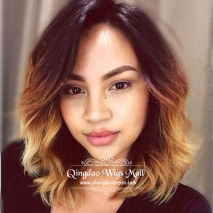 More Chic Wavy Bob Haircuts Human Hair Lace Front Wigs With Side Part