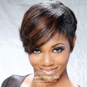 Best Chic Short Pixie Haircuts Capless Human Hair Wigs