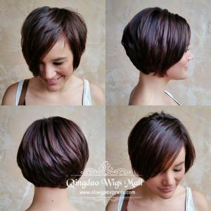The Cutest Bob Styles Short Straight Human Hair Full Lace Wigs
