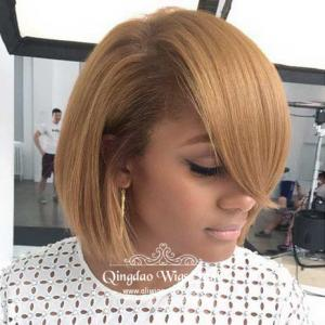 Fresh Defination Bob Hairstyle Smart Short Straight Human Hair Lace Wigs 10inch