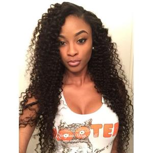 Voluminous Natural Looking Human Hair Wigs For African American 24inch