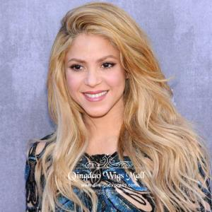 Crazy Blonde Natural Curly Human Hair Wigs For African American 18inch