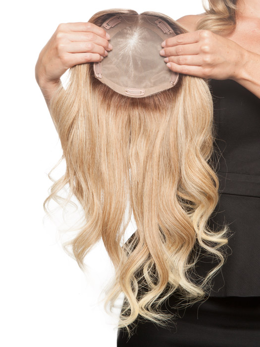 Top Wave 18 Inch Remy Human Hair Topper Hairpiece Same Style As Jon