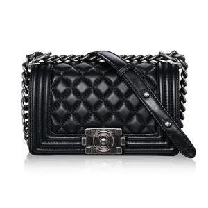 Genuine Leather Chain Handbag Lambskin