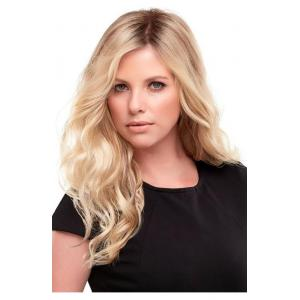 Top Wave 18 Inch Remy Human Hair Topper Hairpiece Same Style As Jon Renau Wigs - Monofilament