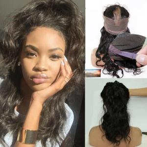 Brazilian Body Wave 360 Lace Frontal Band 8A Unprocessed Virgin Hair