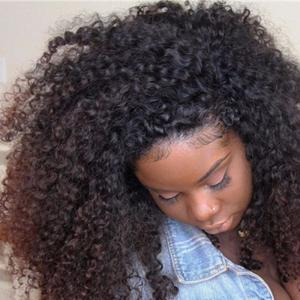 8A Mink 360 Lace Frontal Closure 3B 3C Kinky Curly For Black Women