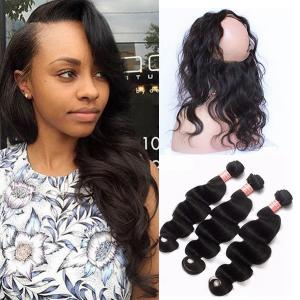 360 lace frontal with bundle pre plucked with baby hair