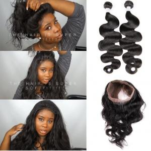 Brazilian virgin hair 360 lace frontal with bundle body wave with baby hair