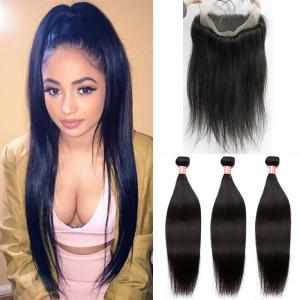 Brazilian Straight Hair 360 Lace Virgin Hair With Bundles 3pcs