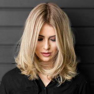 Blonde Ombre Bob Style Silk Top Full Lace Front Wigs Hidden Knots Instock UK