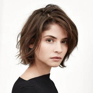 Short wavy malaysian 4X4 silk top lace front wigs miss wigs silk top