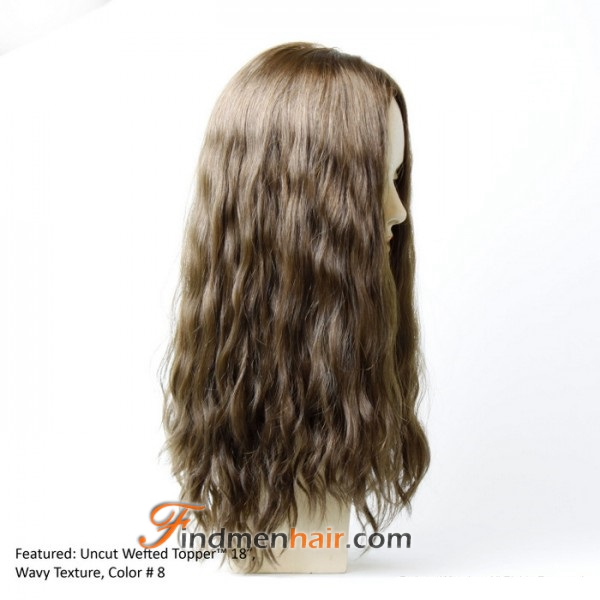 Thick Wavy Clip In Blonde Human Hair Extensions Topper Hair2design