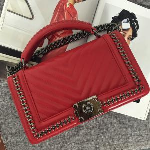 women pu handbags with Chain V