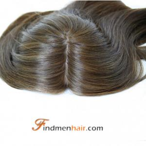 Clip In European Human Hair Wig Toppers For Thinning Hair