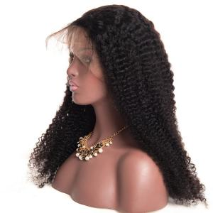 Newest Fashion Long Small Kinky Curly Human Hair Wigs 250 Density 20 inch