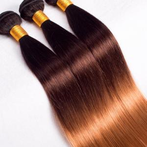 3 Tones 1b/4/27 Copper Colored Hair Bundles Straight Human Hair Extension 12 To 30inch